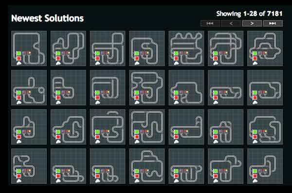 7181 solutions to Trainyard puzzle